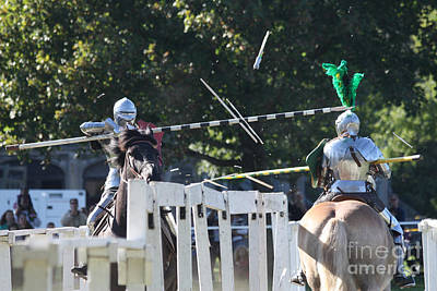 The End To The Jousting Contest  Print by John Telfer