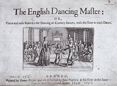 The English Dancing Master Print by British Library