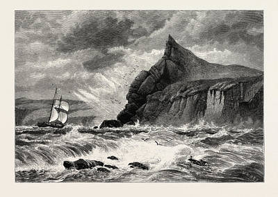 The Entrance To Fowey Harbour, Cornwall, Uk Print by English School