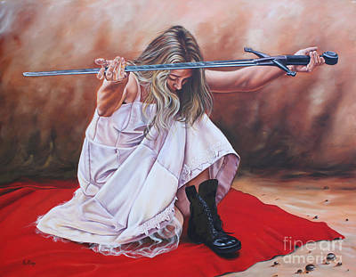 Painting - The Entrusted Sword by Ilse Kleyn