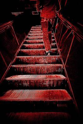 The Escalator Print by Valentino Visentini