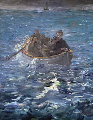 Row Boat Painting - The Escape Of Henri De Rochefort by Edouard Manet