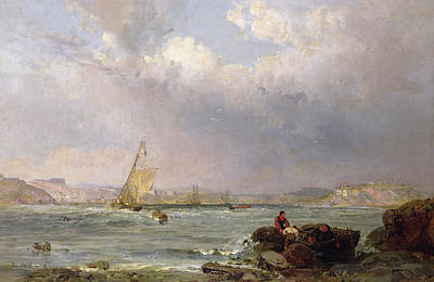 Estuary Painting - The Estuary  by Samuel Phillips Jackson