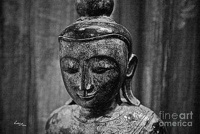 Buddha Photograph - The Eternal - Monochrome. by T Lang