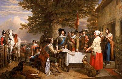 Jacques Painting - The Eve Of The Battle Of Edge Hill by Celestial Images