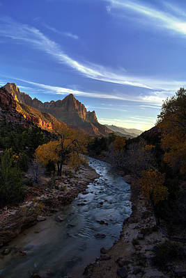 Zion National Park Photograph - The Evening Watchman by Andrew Soundarajan