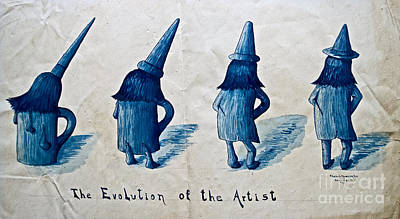 The Evolution Of The Artist Print by Gwyn Newcombe