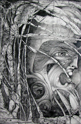 Visionary Art Drawing - The Eye Of The Fomorii - Regrouping For The Battle by Otto Rapp