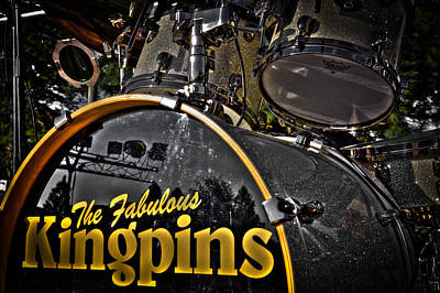 The Fabulous Kingpins Drums Print by David Patterson
