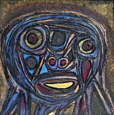 Integrated Painting - The Face Of Eve by Darrell Black