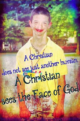 The Face Of God Print by Michelle Greene Wheeler