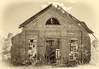 Weed Photograph - The Factory Sepia by Steve Harrington