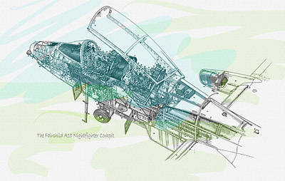 The Fairchild A10 Nightfighter Corkpit Original by Don Kuing