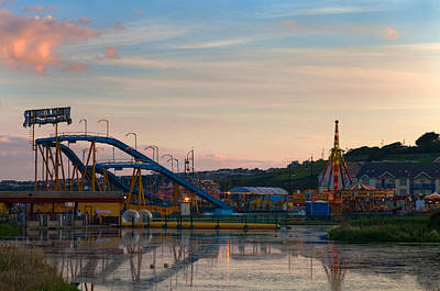 Funfair Photograph - The Fairground ,tramore, County by Panoramic Images