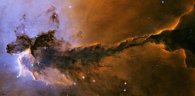 Nebula Photograph - The Fairy Of Eagle Nebula by Space Art Pictures