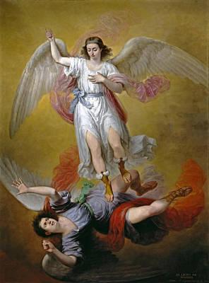 Antonio Maria Esquivel Painting - The Fall Of Lucifer by Antonio Maria Esquivel