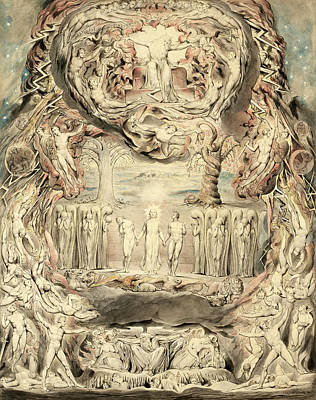 William Blake Drawing - The Fall Of Man by William Blake