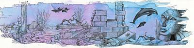 Ruins Mixed Media - The Fall Of Pharaoh by Alexandra Louie
