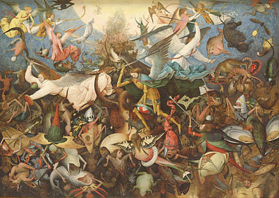 Archangel Photograph - The Fall Of The Rebel Angels, 1562 Oil On Panel by Pieter the Elder Bruegel
