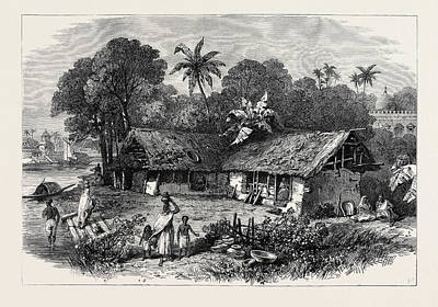1874 Drawing - The Famine In India A Bengal Village 1874 by Indian School