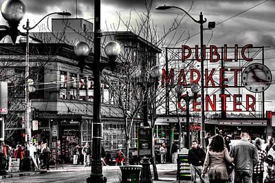 The Famous Pike Place Market - Seattle Washington Print by David Patterson