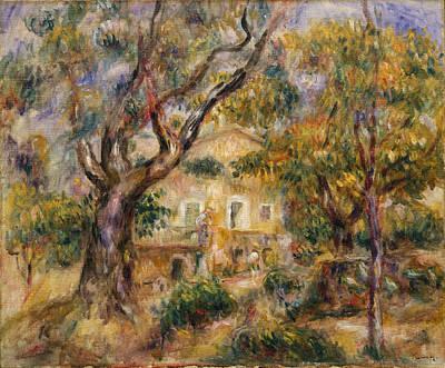 Pierre-auguste Renoir Painting - The Farm At Les Collettes. Cagnes by Pierre-Auguste Renoir