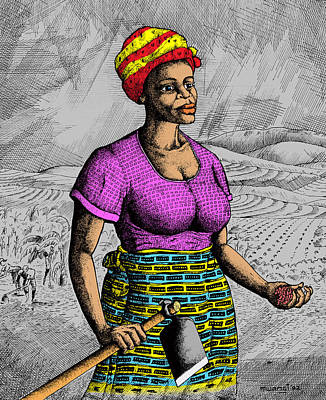 Africa Drawing - The Farmer by Anthony Mwangi