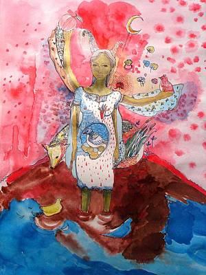 Drawing - The Fatal Woman by Aurelija Kairyte-Smolianskiene
