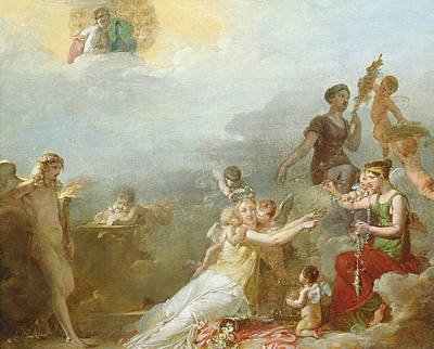 Jean-baptiste Art Painting - The Fates by Jean Baptiste Mallet