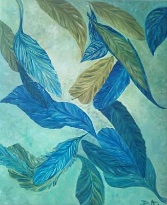 The Feather-leaf Morph Print by Derya  Aktas