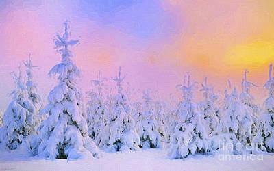 Finland Painting - The February Sun by Veikko Suikkanen