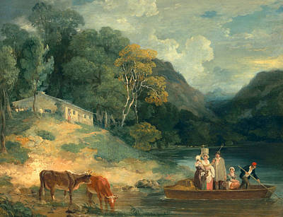 Water Vessels Painting - The Ferry by Francis Wheatley