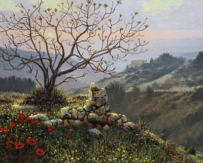Kingdom Painting - The Fig Tree   Mt Carmel by Graham Braddock
