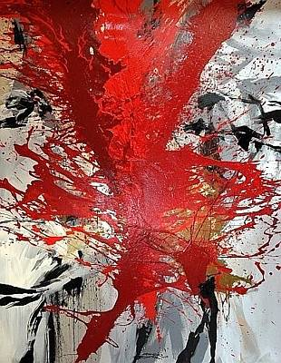 Nitsch Painting - The Fight by Cornelius Richter