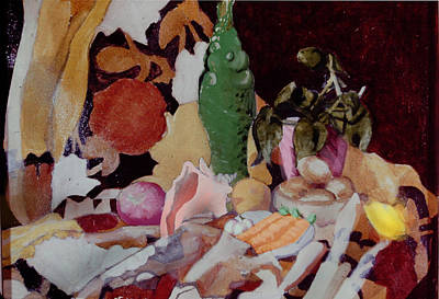 Still Life With Fish Painting - The Fight We Never Had by David Zimmerman