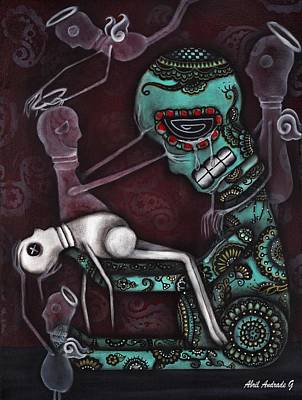 Sugar Skull Painting - The Final Awakening  by  Abril Andrade Griffith