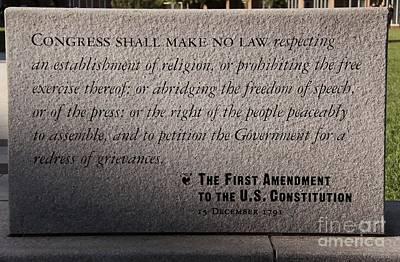 The First Amendment Print by Gayle Johnson