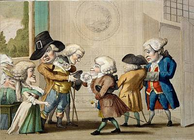Introduction Drawing - The First Approach, C.1790 by Carlo Lasinio
