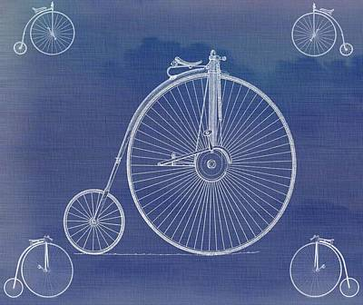 Bicycle Mixed Media - The First Bicycle Penny-farthing by Dan Sproul