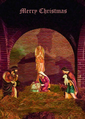 Christmas Cards Digital Art - The First Christmas - Greeting Card by Chris Flees