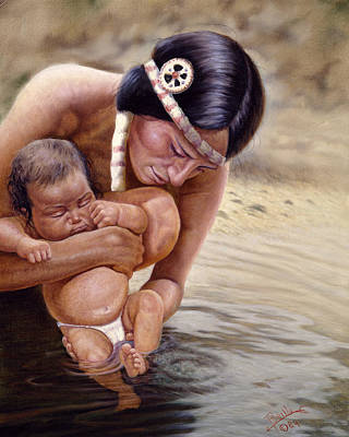 Baptizing Painting - The First Dip by Gregory Perillo