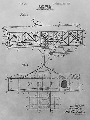 Thought Drawing - The First Flying Machine by Dan Sproul