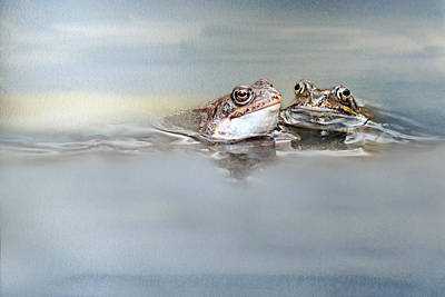 Amphibians Mixed Media - The First Kiss by Heike Hultsch