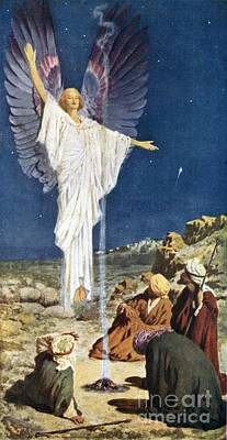 Night Angel Painting - The First Noel by William Henry Margetson