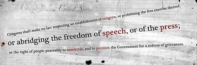 Free Speech Digital Art - The First by Peter Hull