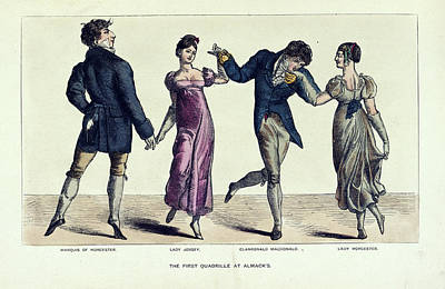 The First Quadrille At Almack's Print by British Library