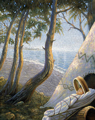 Staten Painting - The First Staten Islander by Gregory Perillo