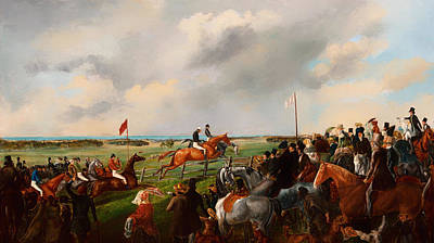 Steeplechase Race Painting - The First Steeplechase In South Australia 1846 by Mountain Dreams