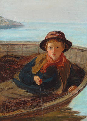 Sit-ins Painting - The Fisher Boy by William McTaggart