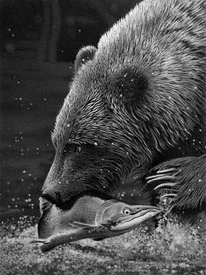 Bear Paw Drawing - The Fisherman by Doug Comeau